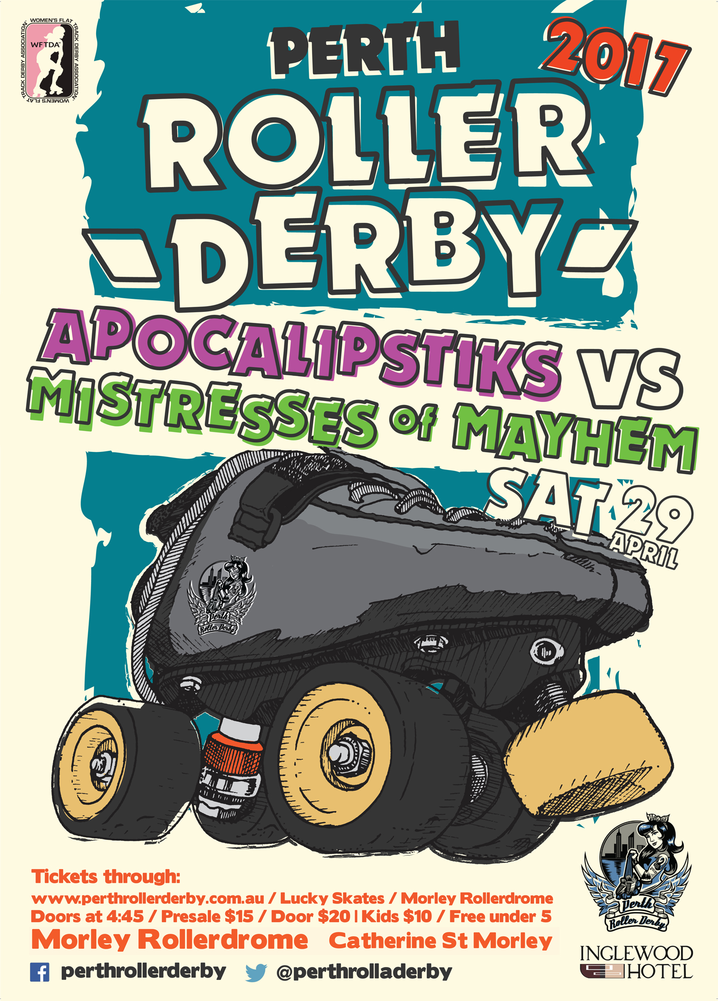 Perth Roller Derby 2017 : Game #2