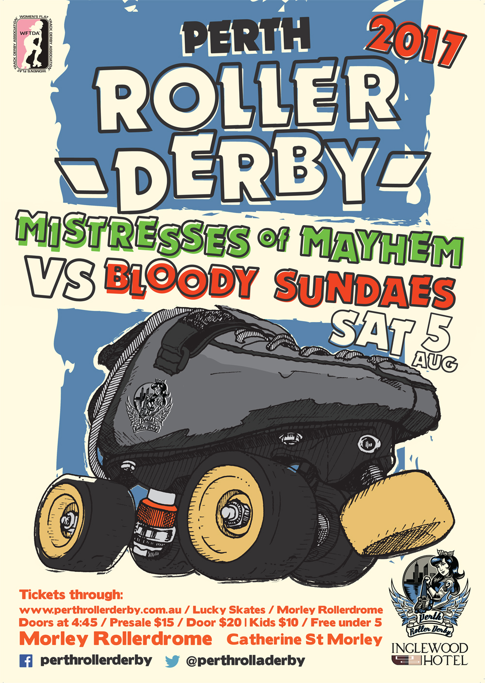 Perth Roller Derby 2017 : Game #4