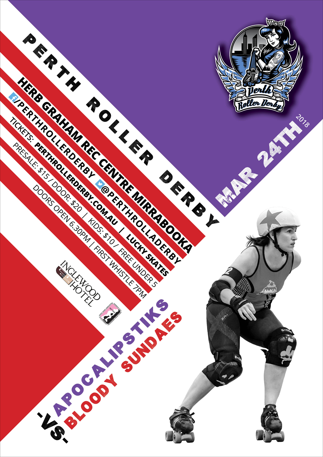 Perth Roller Derby 2018 Game 1
